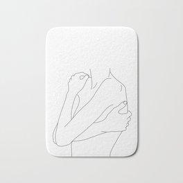 Woman's body line drawing illustration - Dahl Bath Mat