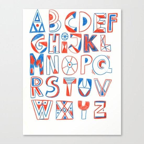 PlayFull Alphabet Canvas Print