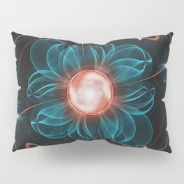 A Glitched Fractal Flower of a Thousand Questions Pillow Sham