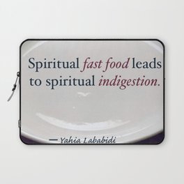 Spiritual Fast Food Laptop Sleeve