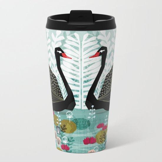 Swans by Andrea Lauren Metal Travel Mug