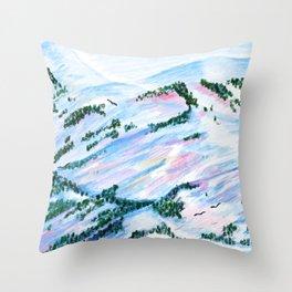 Mountain Scene I Throw Pillow