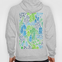 Watercolor floral doodles white Hoody