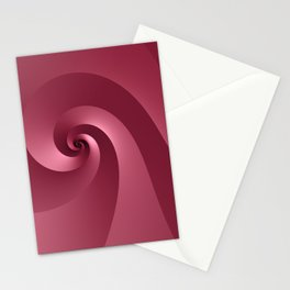 Rose-colored Wave Stationery Cards
