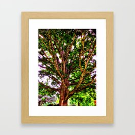 Psychedelic Tree Framed Art Print