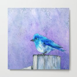 Bluebird Bliss Metal Print