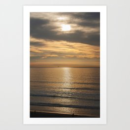 Shiny sunset Art Print