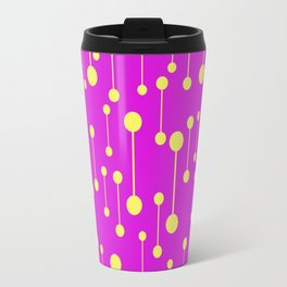 Bonded - Minimalistic Pattern In Purple And Yellow Travel Mug