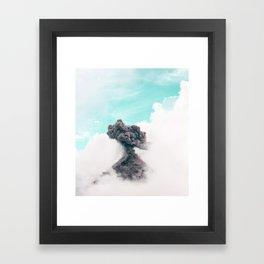Volcano dream Framed Art Print