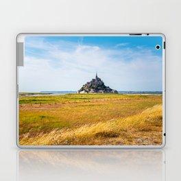 View of Mont Saint Michel against sky Laptop & iPad Skin