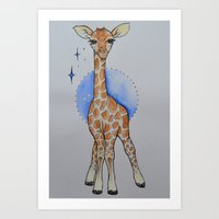 WOBBLY LEGS Art Print