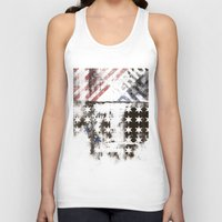 flag Tank Tops featuring FLAG by TOO MANY GRAPHIX