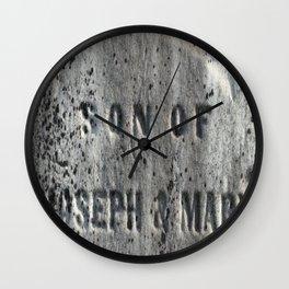Son of Joseph and Mary Wall Clock