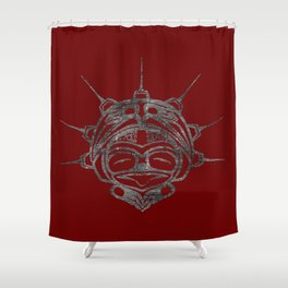 Smoke Frog Blood Shower Curtain