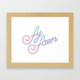 SKAM Fy Faen Framed Art Print