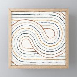 Rainbow Road Framed Mini Art Print