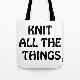 Knit All the Things in Black Transparent Tote Bag
