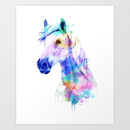 Horse Watercolor, Horse Print, Watercolor Print, Watercolor Animal, Horse Painting, Horse Gift Print Art Print