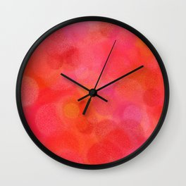 Red Fruit Punch Pattern Wall Clock