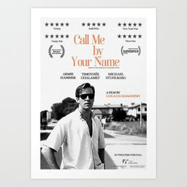 Call me by Your Name Gay Art Print