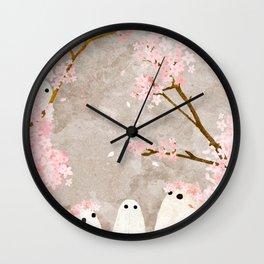 Cherry Blossom Party Wall Clock