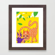 Fox and Hawk, let's be friends Framed Art Print