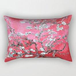 Van Gogh Almond Blossoms : Reddish Pink & Light Blue Rectangular Pillow