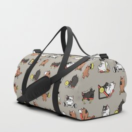 Leg Day with Frenchie Duffle Bag