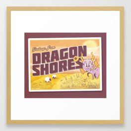 Welcome to Dragon Shores Framed Art Print