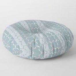 Elegant ornamental pattern (blue and pink) Floor Pillow