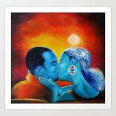 Love Kiss Art Print