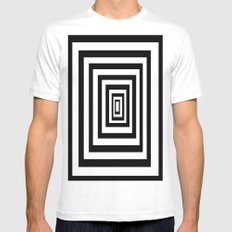 infinity White LARGE Mens Fitted Tee