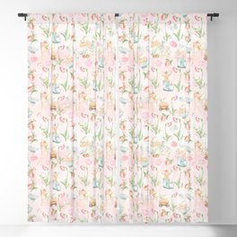 Flower Fairies Flowers and Baby Animals Blackout Curtain