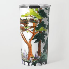 Forest Tree House - Woodland Potted Plant Travel Mug