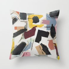 Large Collage With Paint 1 Throw Pillow