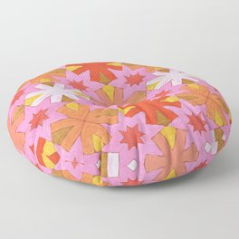 Star Pattern Red and Pink Floor Pillow