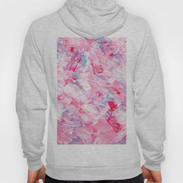 Pink white brushstrokes candy acrylic paint Hoody
