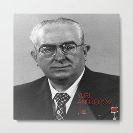 Yuri Andropov · Soviet General Secretary 1982-84 Metal Print