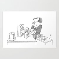 architect Art Prints featuring The Architect by Steve Bonello
