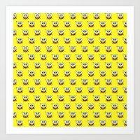 spongebob Art Prints featuring SPONGEBOB by September 9