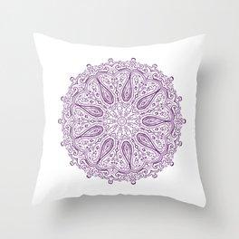 Paisley Pattern Mandala Throw Pillow