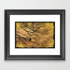 The Old Crow Stands Alone Framed Art Print