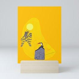break the silence Mini Art Print