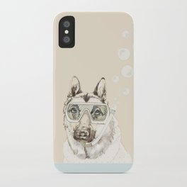 Diver Dog iPhone Case