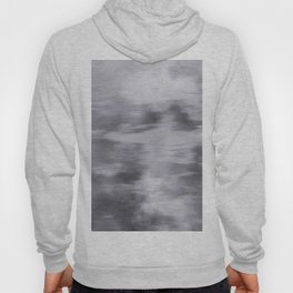Fusion Abstract Watercolor Blend Pantone Lilac Gray / Fluid Art Ink Hoody