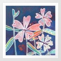 Sticky Chickweed Wildflower Art Print