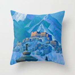 Tibet, Himalayas, 1933 by Nicholas Roerich Throw Pillow