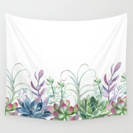Succulents in The Garden Wall Tapestry