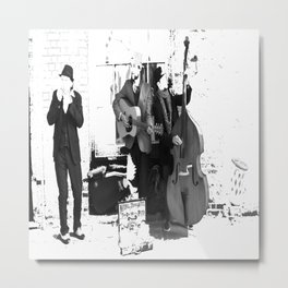 New Orleans Music in the Streets Metal Print