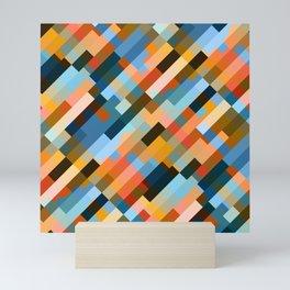 multicolored striped pattern Mini Art Print